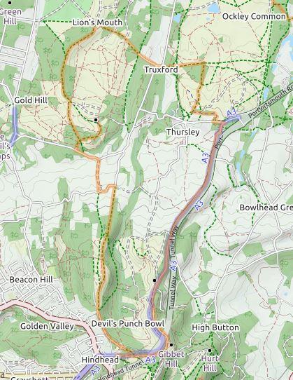 Cycle Map Thursley OpenMaps