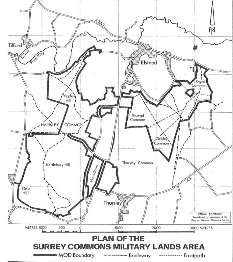 Surrey Commons Military Lands Area