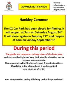 Hankley Common Car Park closures