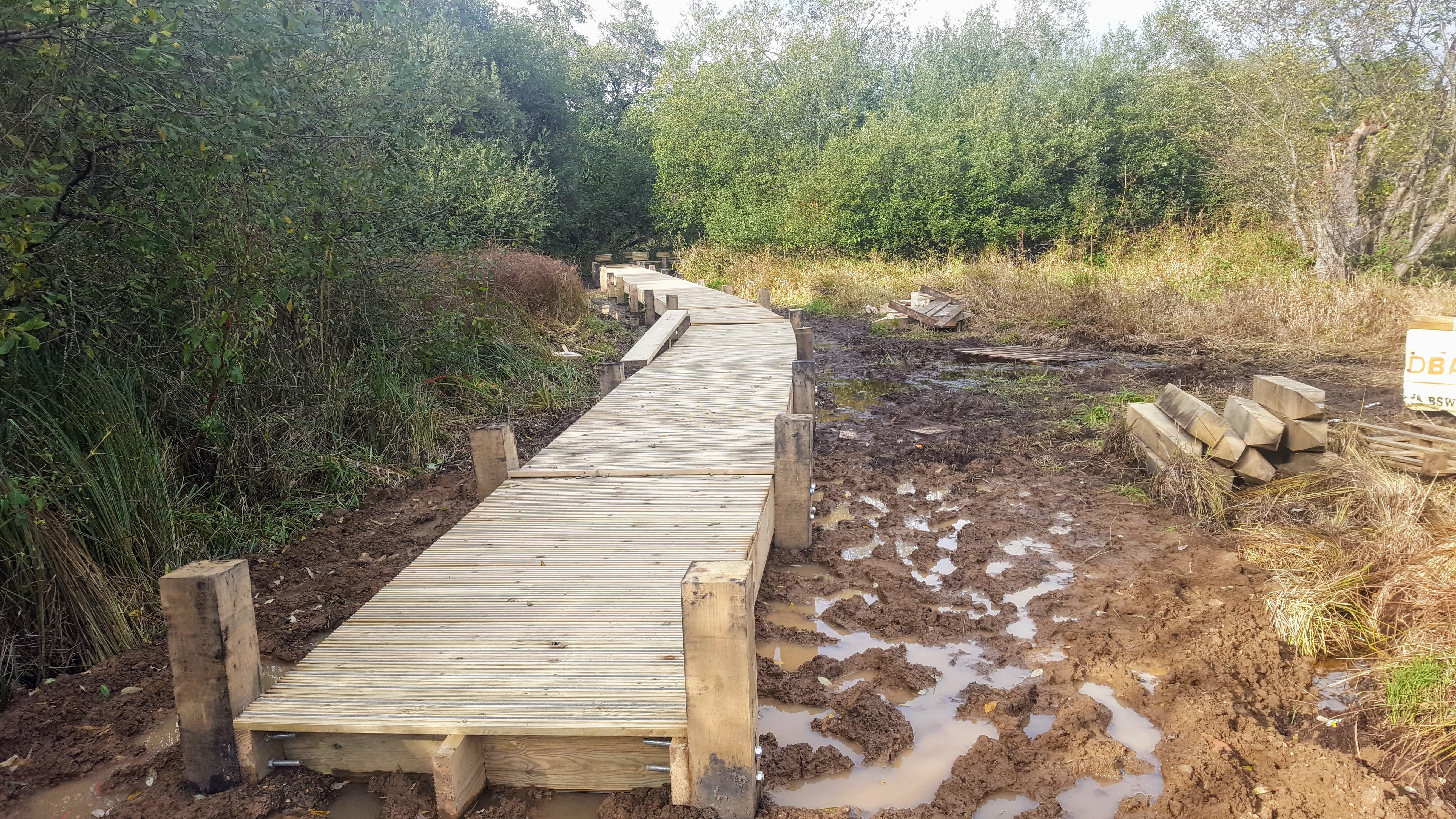 Work on the new boardwalk at Weyburn underway.