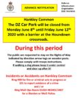 Hankley Common DZ Car Park closed Monday 8th June to Friday 12th June 2020