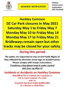 Read more about the article Hankley Common Car Park – May closure dates